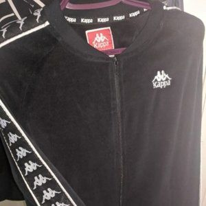KAPPA Jacket black suede Size M